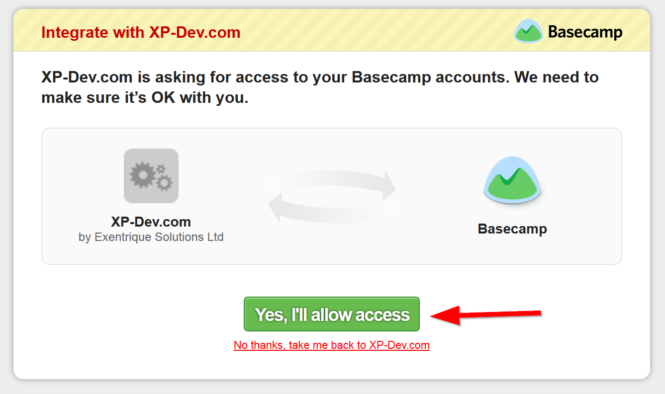 Basecamp OAuth Authentication