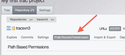 Path Based Permissions